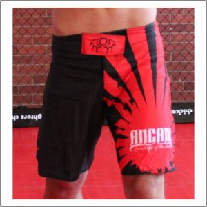 Rising Sun MMA Shorts Red